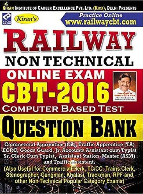 Free-Book: Kiran's Railway RRB NTPC Non Technical CBT Question Bank [PDF Download]