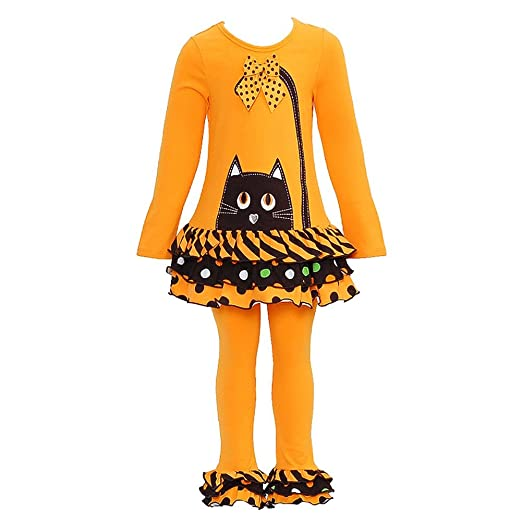 Bonnie Jean Baby-girls Halloween Cat Fall Dress Outfit Set with Leggings