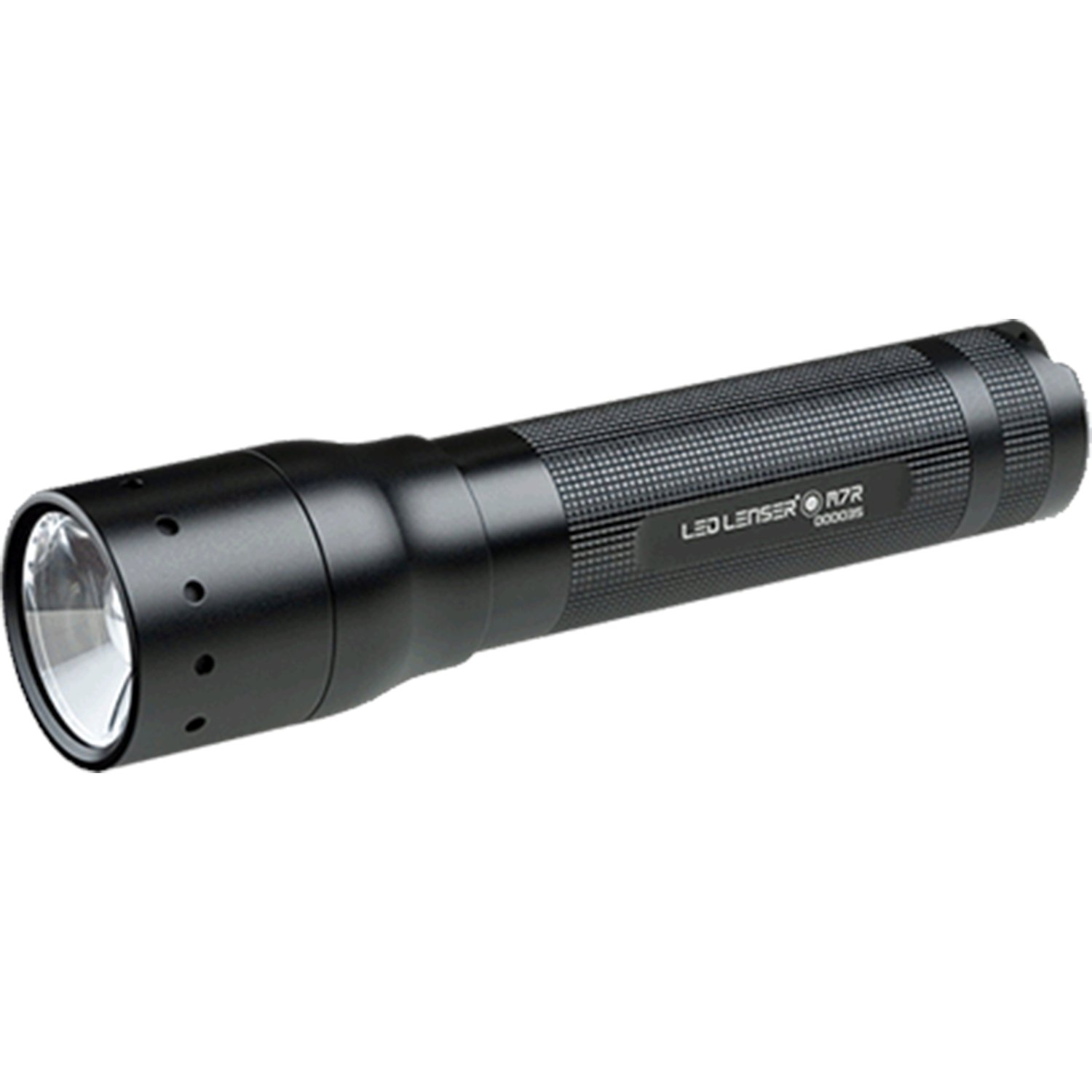 LED Lenser M7R Rechargable Flashlight A very bright high-quality LED flashlight with lots of options, and a small form factor and affordable price. Great fit for RVing, and chasing the cat when she escapes.
