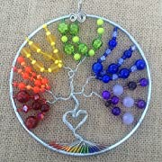 Rainbow Tree of life sun catcher rainbow sun catcher tree of life tree of life suncatcher tree of life wall decor lgbt tree of life