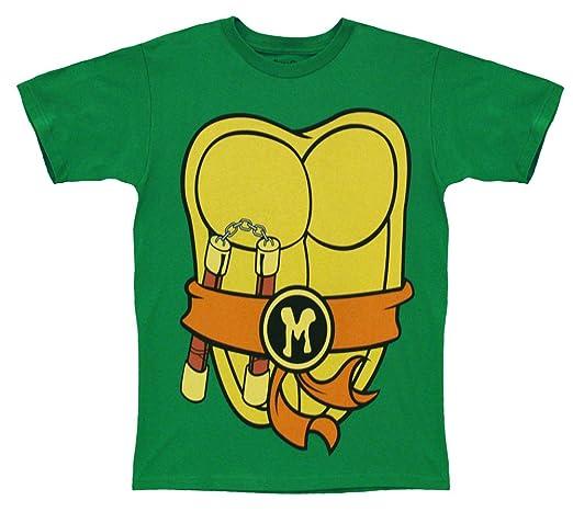 Mighty Fine TMNT Teenage Mutant Ninja Turtles Michelangelo Costume Green Adult T-shirt Tee (XX-Large)