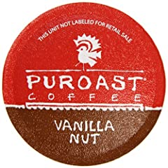 Puroast Low Acid Coffee Single Serve Keurig Compatible, Vanilla Nut, 12 Count