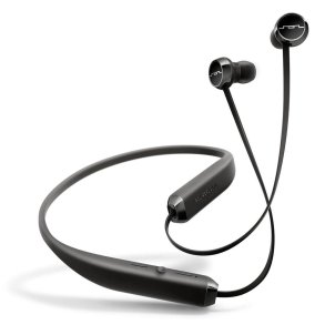 A bluetooth behind the neck in ear headphones sounds decent, considering the price point