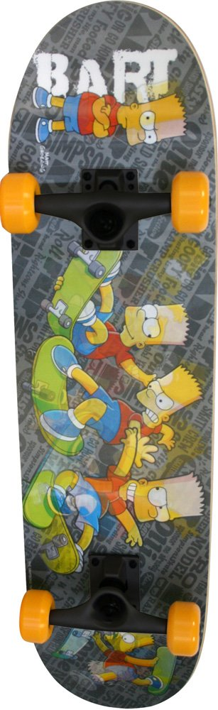 The Simpsons Skateboard hologramme Enfant Noir