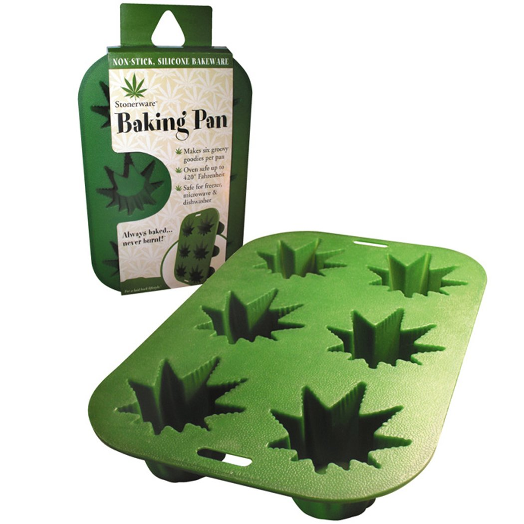 Stoneware Baking Pan - Candy Mold - Ice Cube Tray - Jello Mold -  Soap Mold Marijuana Cannabis leaf