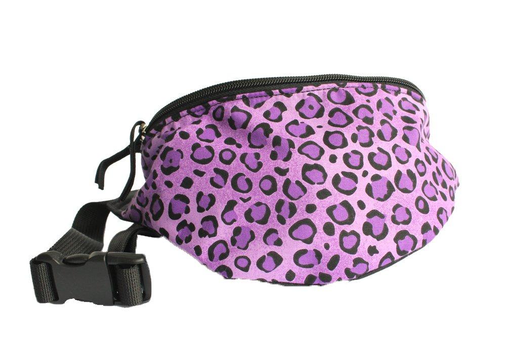 Chira Designs Cheetah Purple fabric Fanny Pack - Waist Bag