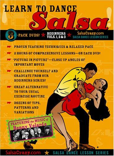 Learn to Dance Salsa, Beginning Salsa Dance 3 Pack - All 3 Progressive Beginning Salsa Dance DVDs [3 DVDs]