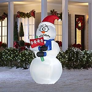 Amazon.com - 6 Ft Tall Lighted Christmas Inflatable ... on Backyard Decorations Amazon id=46157