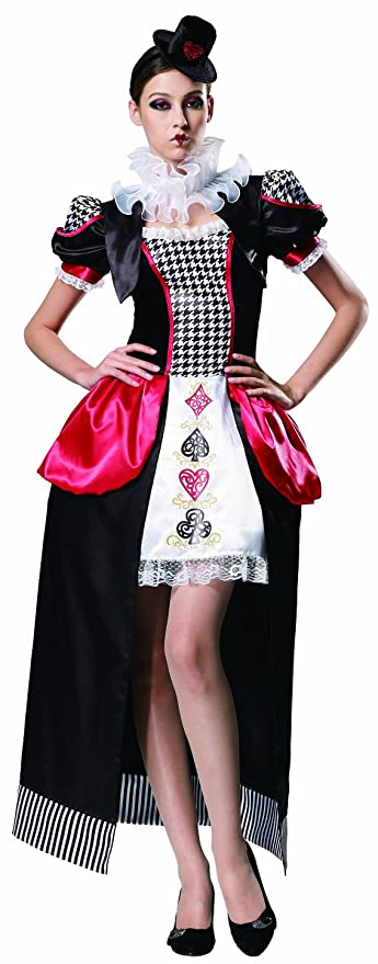 HGM Costume Women's Poker Lady, Red/White/Black, Medium