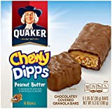 Quaker Chewy Peanut Butter Dipps Granola Bars, 6 Count