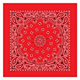 Carolina Have, A, Hank Paisley Bandannas, 22-Inch by 22-Inch, Red