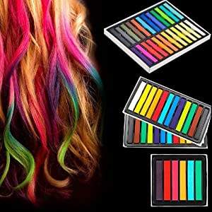 hair chalk temporary hair color set 6 bright colors online at low prices in india