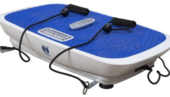 JSB HF57 Powerful 3D Swing Shake Fitness Slimming Massager (Blue and White)