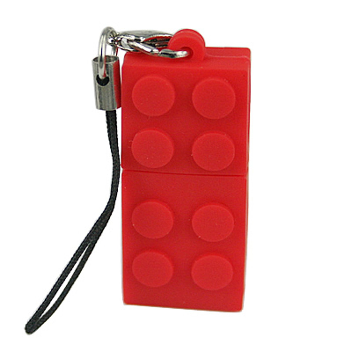Novelty Building Block Shaped USB Flash Drive Memory Stick (8GB, Red)