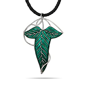 Lord of the Rings Elf Leaf Pin Pendant in Sterling Silver