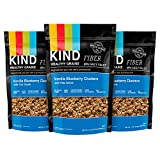 KIND Healthy Grains Granola Clusters, Vanilla Blueberry with Flax Seeds, 11 Ounce Bags, 3 Count