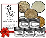Chef Cherie's Sea Salt Sampler Gift Set - Contains 5 2 oz. Tins