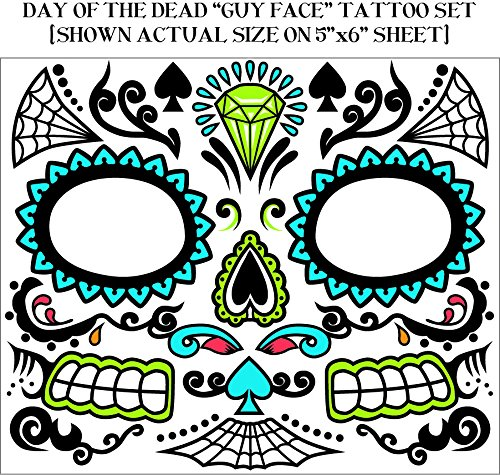 Day of the Dead Male Face Tattoo