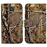 myLife Deep Wooded Camo Print - Classic Design - Koskin Faux Leather (Card, Cash and ID Holder + Magnetic Detachable Closing) Slim Wallet for NEW Galaxy S5 (5G) Smartphone by Samsung (External Rugged Synthetic Leather With Magnetic Clip + Internal Secure Snap In Hard Rubberized Bumper Holder)