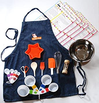 Playful Chef Deluxe Cooking Kit with Blue Apron