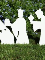 Christmas Outdoor 3-Wise Men Nativity Figures
