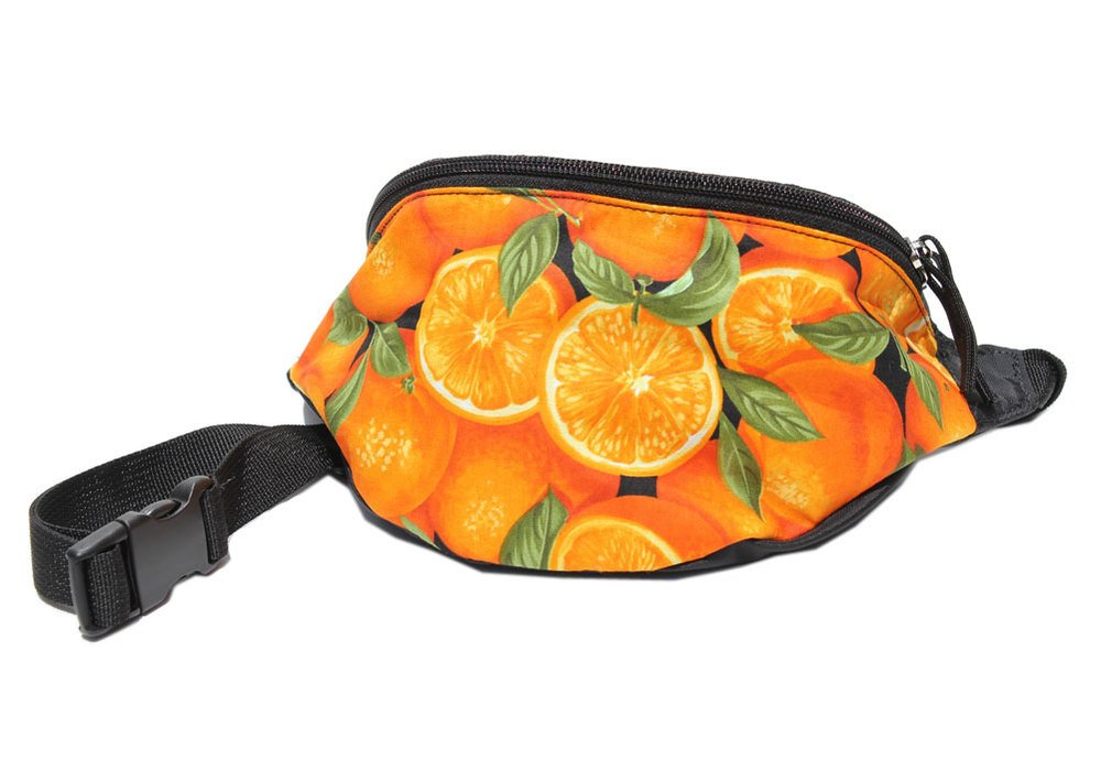 Chira Designs Oranges fabric Fanny Pack - Waist Bag