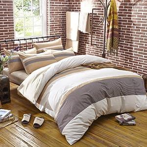 Amazon.com: Know The Fall Beige College Dorm Bedding Teen ... on Beige Teen Bedroom  id=28737