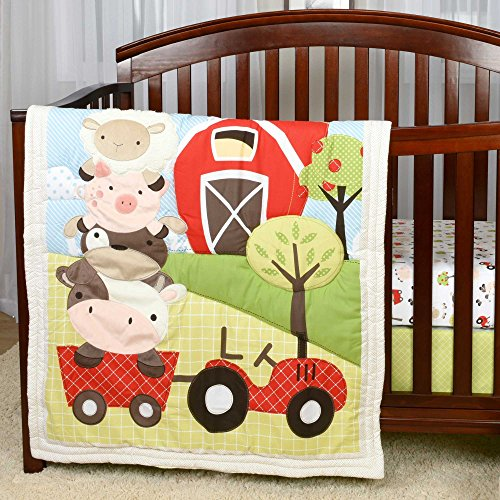 Baby's First by Nemcor McDonald's Farm Bedding Set, 3 Piece