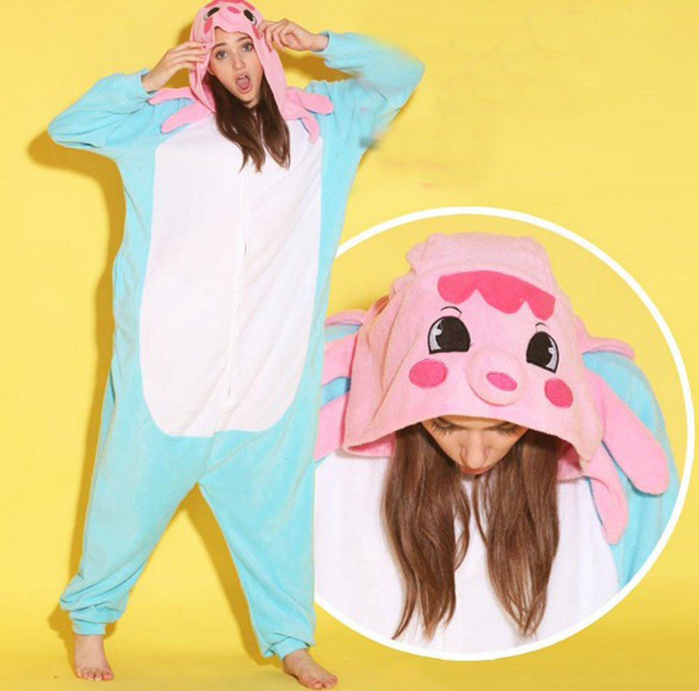 Women Men Octopus Unisex Adult Animal Sleep Suit Cosplay