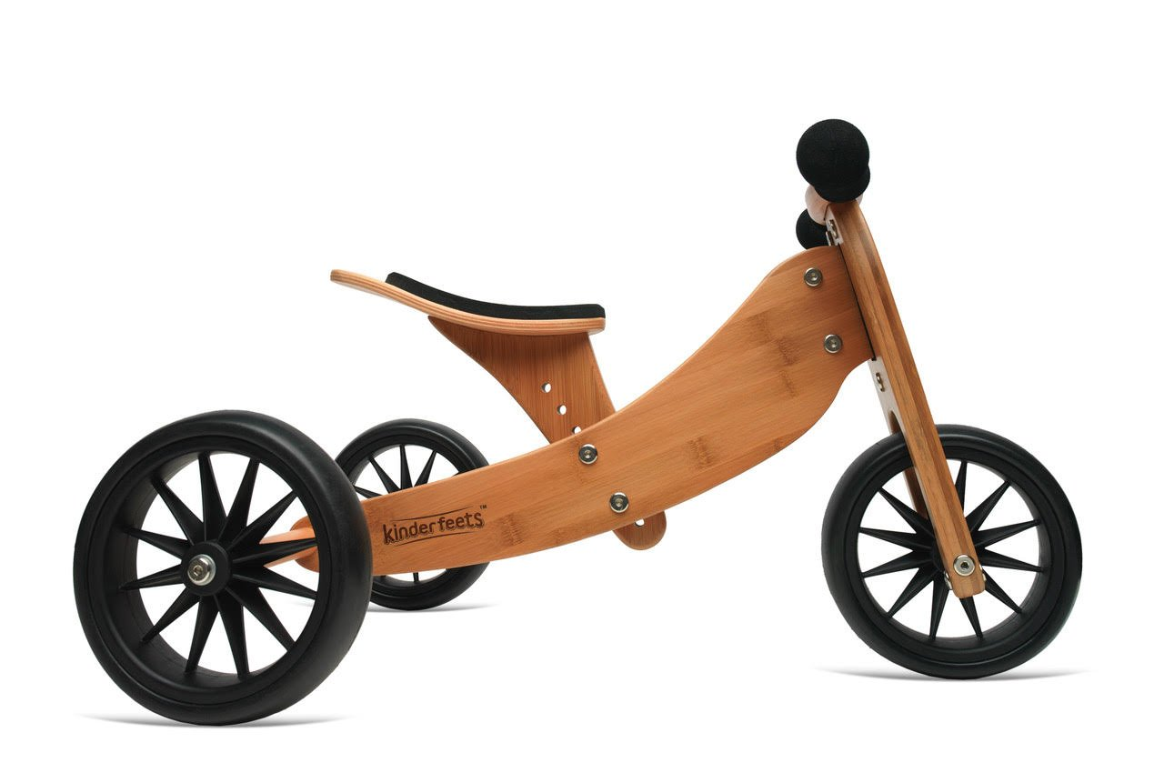 Kinderfeets TinyTot Wooden Balance Bike and Tricycle