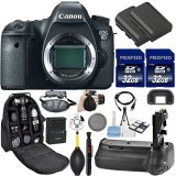 Canon-EOS-6D-DSLR-Camera-Body-Only-Kit-Includes-2Pcs-32GB-Commander-MemoryCard-Battery-Grip-Extra-Battery-Backpack-Case-Grip-Strap-Air-Blower-Cleaning-Kit