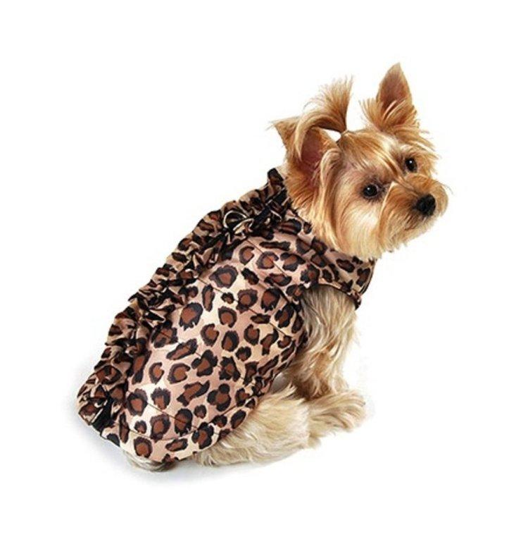 Leopard Dog Bomber Jacket