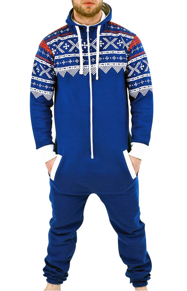 SkylineWears Men's Fashion Onesie Playsuit Jumpsuit one Piece non Footed Pajamas