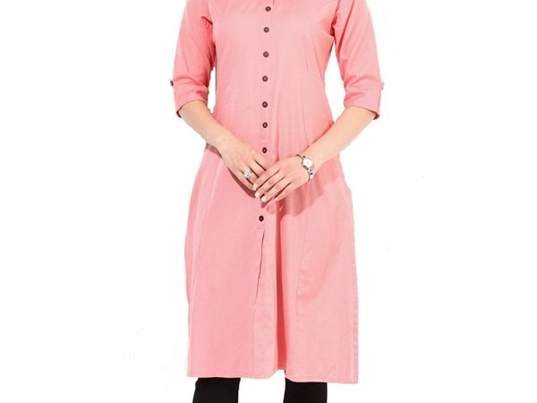 Vatsla Enterprise Women's Digital Printed Straight Crepe Kurti (VMSKCST216_PINK)