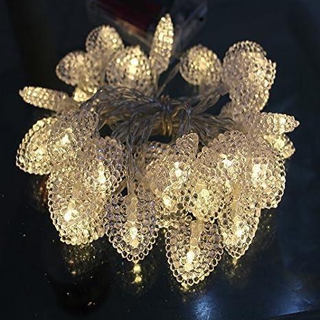 DeKaWei Heart Shape 20LEDs Christmas Xmas Decoraton LED Fary LED string Light (Warm White)