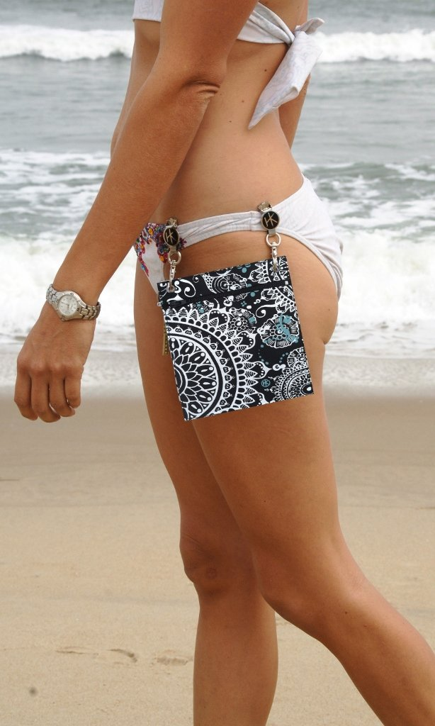 Hip Klip & Hip Purse with NEW Glasses Tab (Bali 100% Cotton) - now everything's handy!