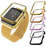 Apple Watch Case(42MM), Bandmax Lightweight High Quality 18K Gold Plated Hard Protective Case for Apple Watch/Watch Sport/Watch Edition Accessories(Without Screen Cover)