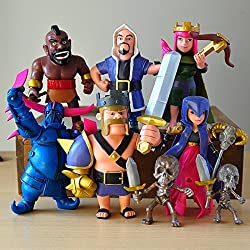 Clash of Clans Figure Barbarian Archer Hog Rider Witch PVC Action Figure Models Dolls Xmas Toys 6PCS by Toy Co.