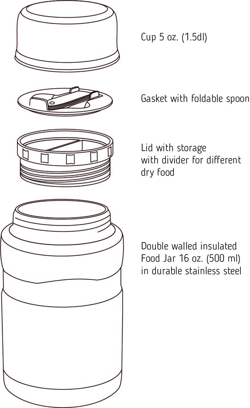 best insulated food container illustraion