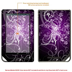 Protective Decal Skin Sticker for Barnes Noble NOOK COLOR release 2010 case cover NOOKcolor-418