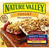 Nature Valley Strawberry/Vanilla Yogurt Chewy Granola Bars Variety Pack, 6 Count (Pack of 6)