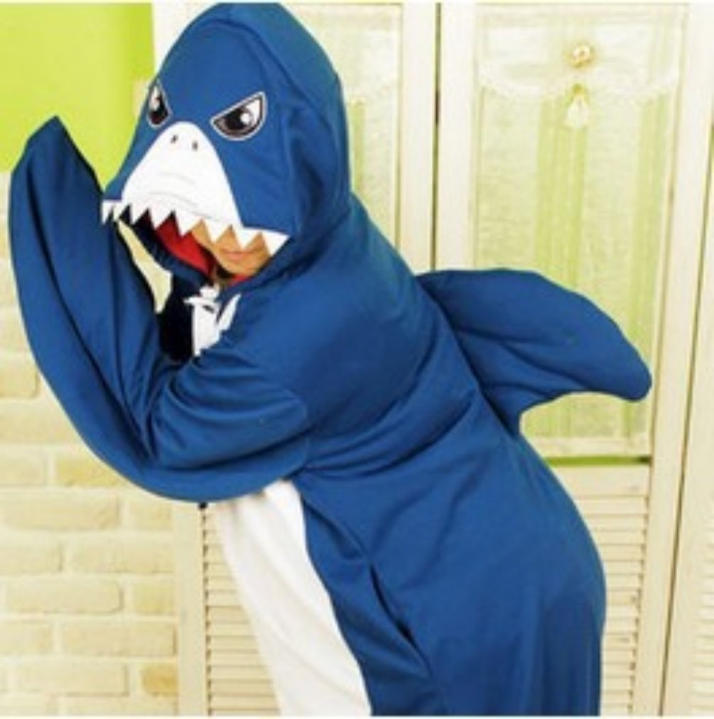 Adult Animal Shark For Party Cosplay Pajamas Sleepwear Costume