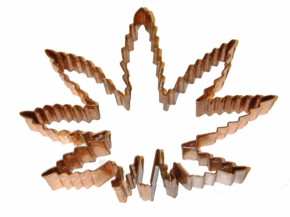The Cannabis Cutter-Copper Marijuana Leaf Cookie/Fondant Cutter