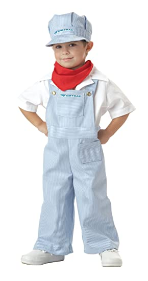 California Costumes Amtrak Train Engineer Costume, 4-6