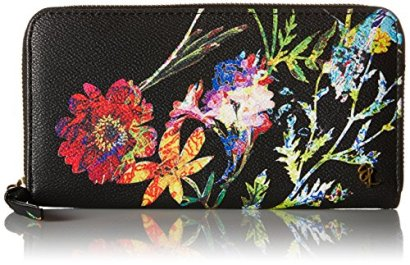 Elliott-Lucca-Large-Zip-Wallet-Black-Spring-Botanica