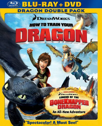 How to Train Your Dragon (Two-Disc Blu-ray/DVD Combo + Dragon Double Pack) [Blu-ray]-DreamWorks