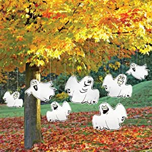 Amazon.com: Halloween Yard Decoration Funny Ghosts: Home ... on Backyard Decorations Amazon id=91727