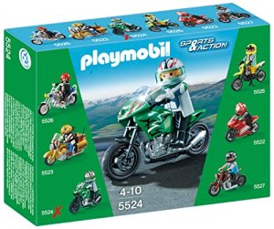 Playmobil-Coleccionables-Playset-moto-deportiva-5524