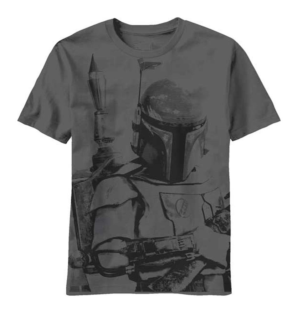 Star Wars Boba Fett Sarlacc Bait Mens Charcoal Grey T-shirt