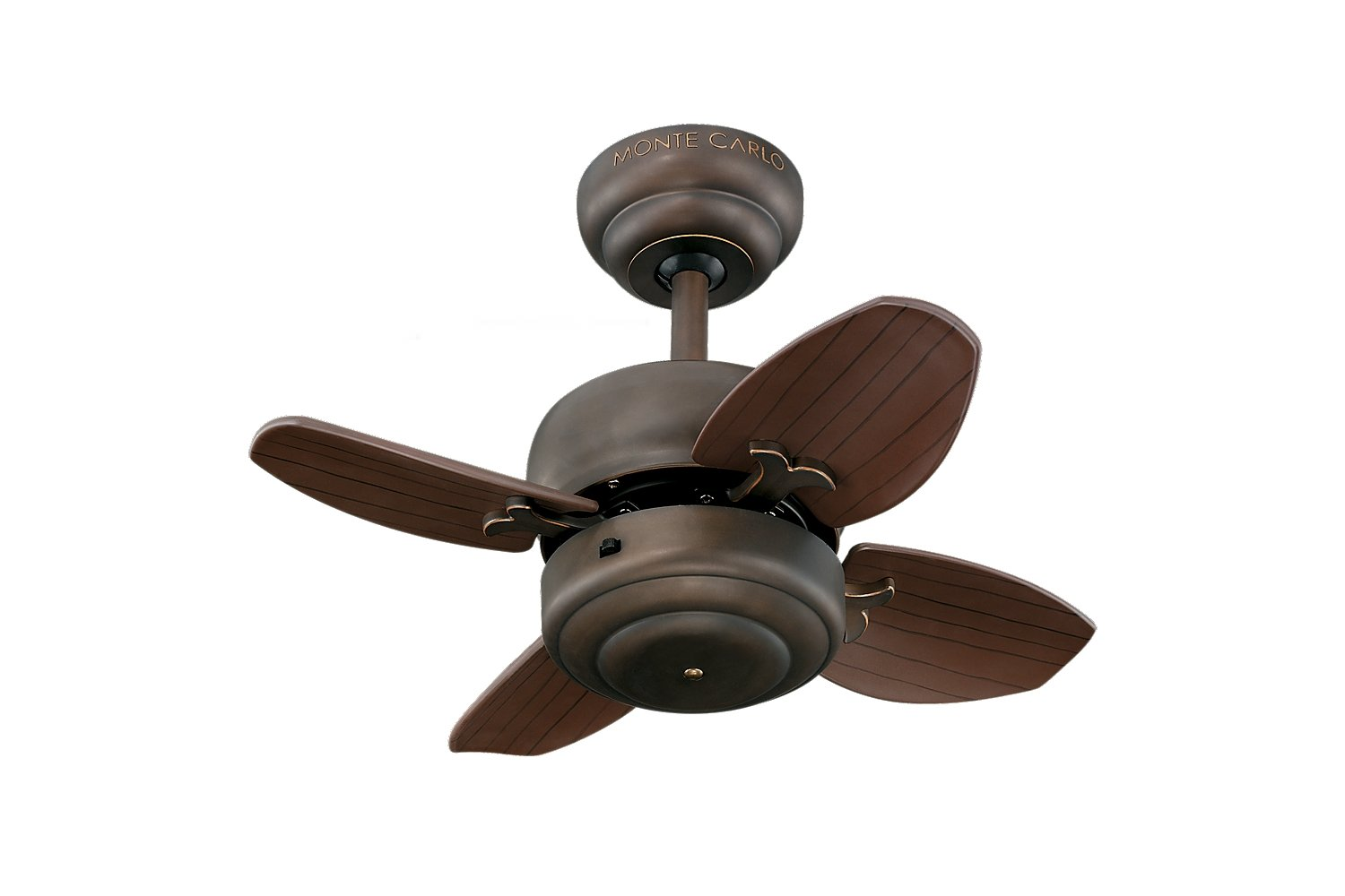 "Monte Carlo 4MC20BS, Mini Brushed Steel 20"" Ceiling Fan"